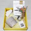 Glam and glow Gift box salt bath and candel
