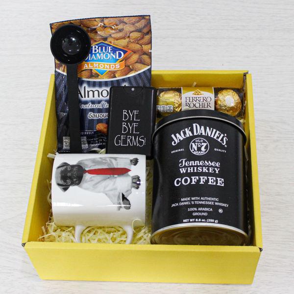 กาแฟบด Jack Danel's Coffee coffee cup and snack